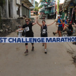 Runners finishing Mt. Everest Challenge Marathon hand in hand