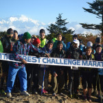 Runners at start line on Mt. Everest Challenge Marathon