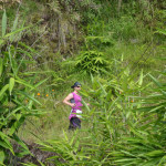 Runner on the trail on Race Day 4